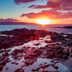 Sunset Makena Secret Beach